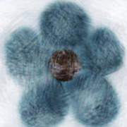 Blue Flower Cloud Poster