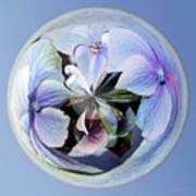 Blue Flower Orb Poster