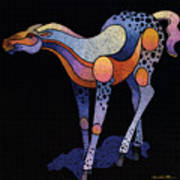 Blue Foal After Frans Marc Poster