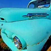 Blue Ford Pickup Truck Poster