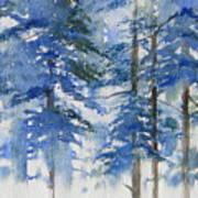 Blue Forrest Poster