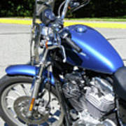 Blue Harley One Poster