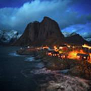Blue Hour In Lofoten Poster