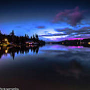 Blue Hour Reflected Poster