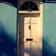 Blue House Door Poster
