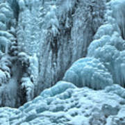 Blue Ice Flows At Tangle Falls Poster
