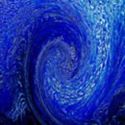 Blue Ice Twirl-1 Poster
