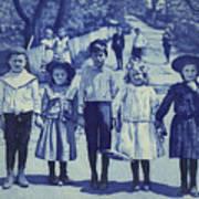 Blue Kids Poster