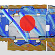 Blue Kimono Poster