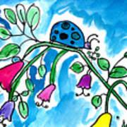 Blue Ladybug Poster