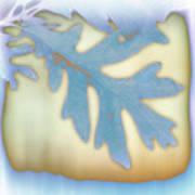 Blue Leaf Poster