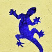 Blue Lizard Poster