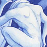 Blue Man Study Poster