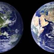 Blue Marble Composite Images Generated By Nasa Poster