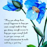 Blue Meconopsis Poppy Poster