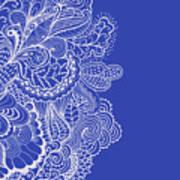 Blue Mehndi Poster