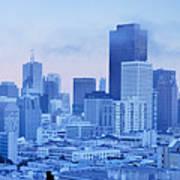 Blue Mist, San Francisco Poster