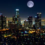 Blue Moon Over L.a. Poster
