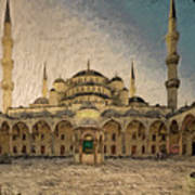 Blue Mosque At Sunrise Poster