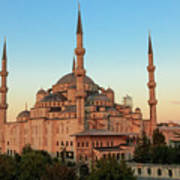 Blue Mosque Blue Hour Poster