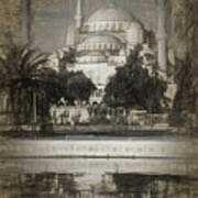 Blue Mosque - Sketch Poster