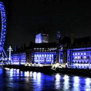 Blue Night In London Poster