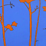 Blue Orange Tree Poster