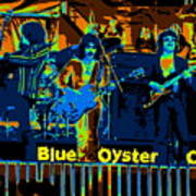 Blue Oyster Cult Jamming In Oakland 1976 Poster