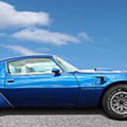 Blue Pontiac Trans Am 1978 Poster