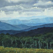 Blue Ridge From Grassy Bald  Study Poster