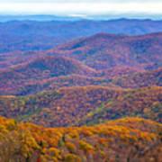 Blue Ridge Mountains 4 Poster