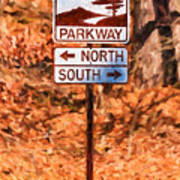 Blue Ridge Parkway Sign Poster