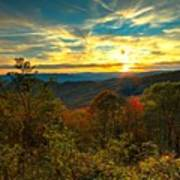 Blue Ridge Sunsets Poster