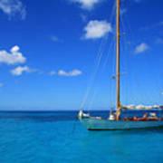 Blue Sailing Poster
