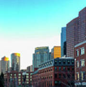 Blue Sky Boston Poster