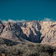Blue Sky Over Red Rock Poster