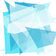 Blue Sky Polygon Pattern Poster