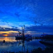 Blue Sky Sunset Poster