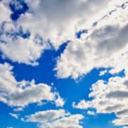 Blue Sky With Cloud Closeup 2 Poster