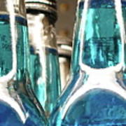 Blue Soda Abstract Poster