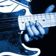 Blue String Bender Poster