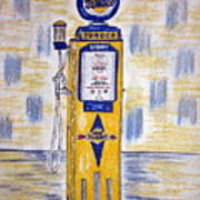 Blue Sunoco Gas Pump Poster