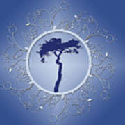 Blue Tree Of Life Poster