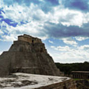 Blue Uxmal Poster