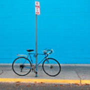 Blue Wall Bicycle Poster