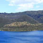 Blue Water Green Islands Poster