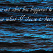 Blue Water With Inspirational Text Poster