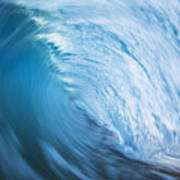 Blue Wave Tube Blur Poster