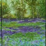Bluebell Meadow Triptych Poster