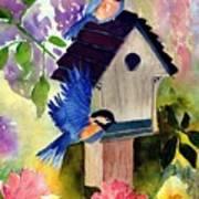 Bluebirds Nesting Poster